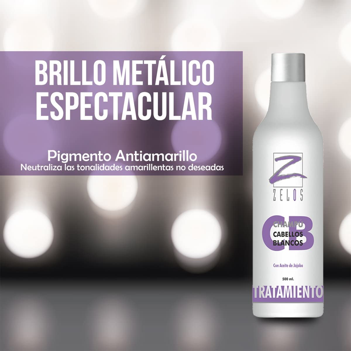 Champú Violeta 500ml - Cabellos Blancos, Grises ...