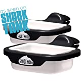 Saucemoto Dip Clip | An in-car sauce holder for ketchup and dipping sauces. As seen on Shark Tank (2 Pack, Black)