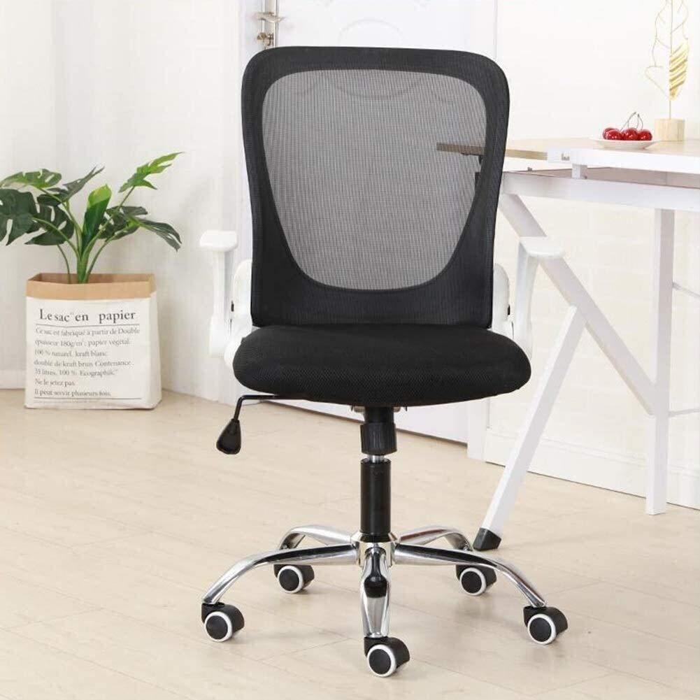 DBL Executive Recline kontorsstol, ländrygg stöd höjd justerbar nätväv svängbar ergonomisk skrivbordsstol vadderad kontorsstol skrivbordsstolar (färg: svart) Svart