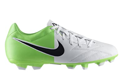 Men's Nike T90 Shoot IV Soccer Cleats White/Electric Green/Black Size 6