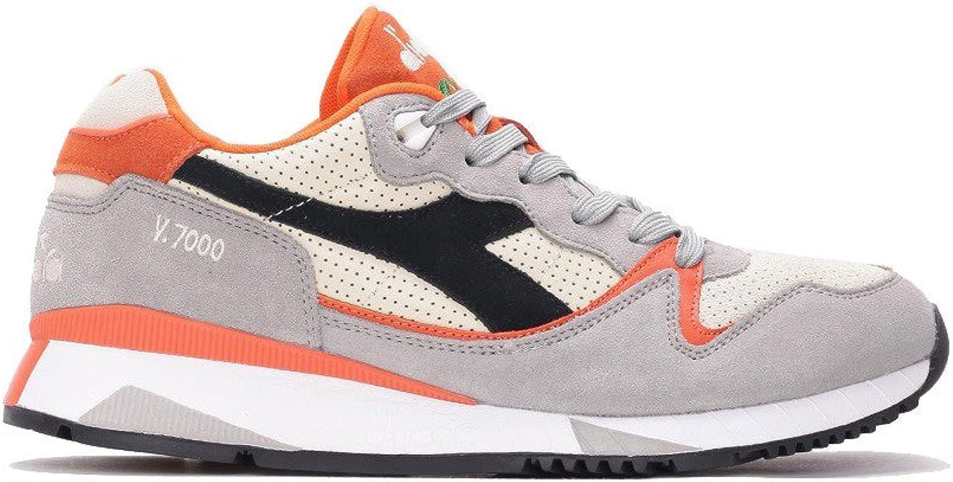 migliore selezione del 2019 prese di fabbrica sito web per lo sconto Diadora, Uomo, V7000 Premium Grigie Arancioni, Suede, Sneakers ...