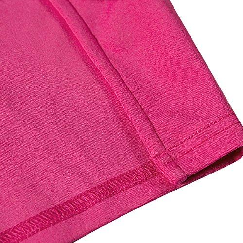 Dos Bodycon Solide Haute Pink Mini Split Robe Clubwear Nu bouriff irrgulire wYY4I6