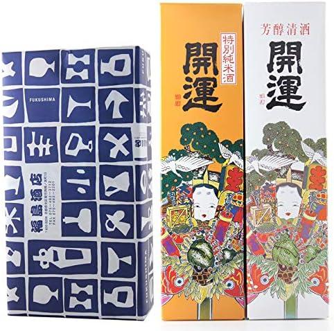 [スポンサー プロダクト]【開運祈願】開運 紅白セット 特別純米&特別本醸造 720ml×2本 カートン付き