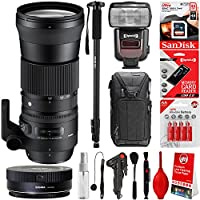 Sigma 150-600mm f 5-6.3 DG OS HSM Contemporary Lens for Nikon DSLR + 20PC Bundle for D810 D750 D610 D7500 D7200 D7100 D7000 D500 D5600 D5500 D5300 D5200 D5100 D3400 D3300 D3200 and D3100