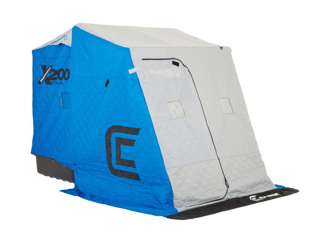 Clam Outdoors 10125 X200 Pro Thermal - 2 Man Ice Fishing Shelter w/ Grey Sled by Clam Outdoors