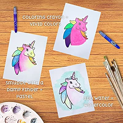 Gel Crayons, Silky Smooth and Bolder Crayons, Create Pastel, Watercolor Effects Set of 3 - Great for Toddlers, preschoolers, Kids, Toddler Party Favors: Toys & Games