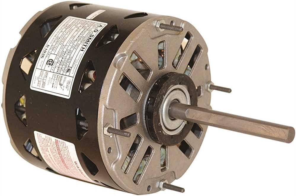 "Century DL1076 Dl1076 Standard Efficiency Indoor Blower Motor, 5-5/8"", 115 Volts, 10.3 Max Amps, 3/4 Hp, 1,075 RPM"