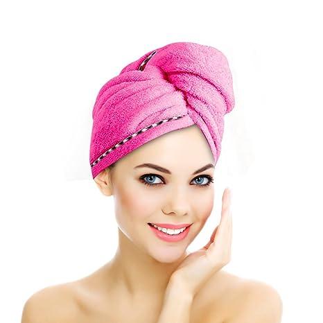 Toalla de microfibras para el cabello calidad premium, toalla tipo turbán de secado rápido super