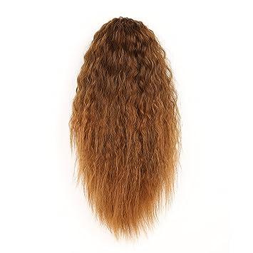 amazon com huacang wavy wig fixture fluffy dark brown long curly