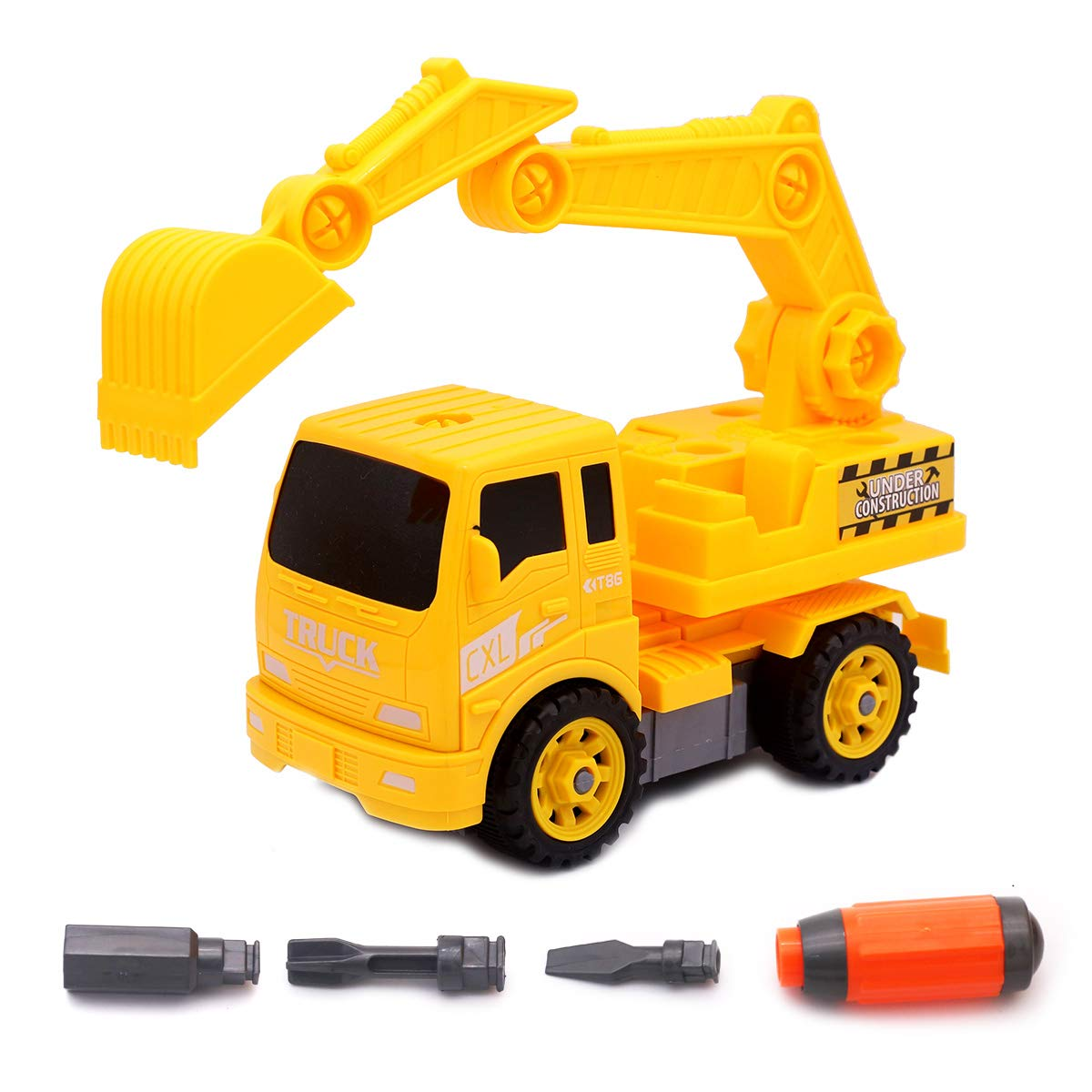 CXL Take Apart Excavator Assemble Disassemble Truck with Tools Construction Kit Assembly DIY Toys for Kids Boys 3 Years Old Canxinlong Toys Factory .