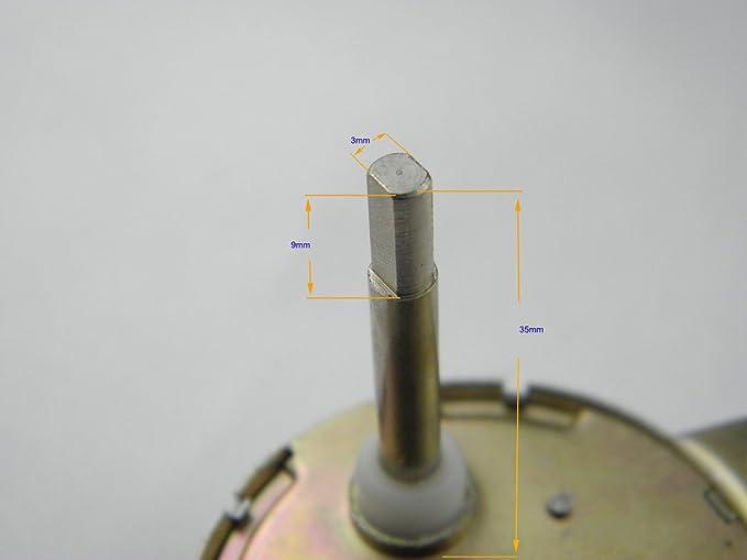 Synchronous Motor TYC-40 Shaft Length 3.5CM 12V AC 5RPM Flat