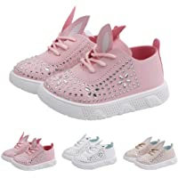 Dorical Sparkling Glitter Casual Leather Sneaker Rabbit Ear High-top Sequined Paillette Sport Running Trainer Boy Girl Toddler Shoes