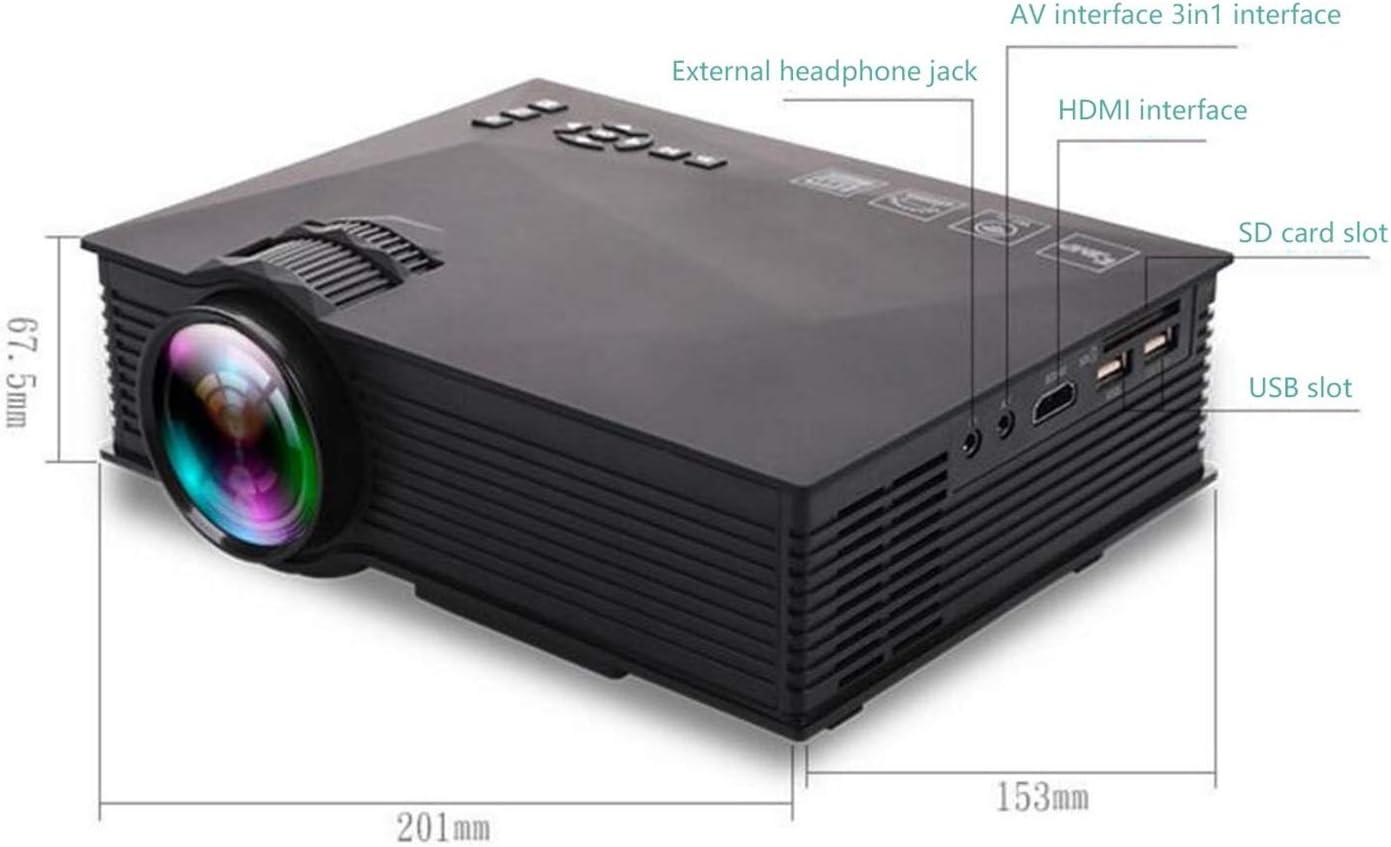 Proyector Sistema de Cine en casa HD portátil, Mini proyector LED ...