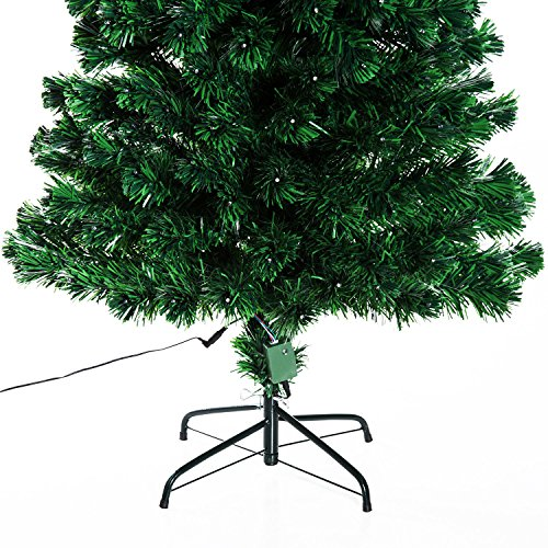6' Artificial Holiday Fiber Optic / LED Light Up Christmas Tree w/ 8 Light Settings and Stand by HOMCOM (Image #6)