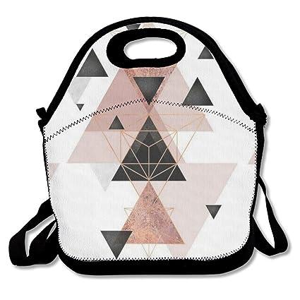 Amazon.com: Bolsas de almuerzo geométricas de oro rosa ...