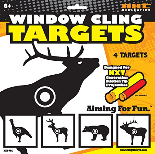 NXT GENERATION Animal Window Cling Target, black/White