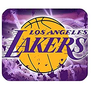 L.A. Lakers Team Logo Background Design Rectangle Mouse Pad-by Allthingsbasketball