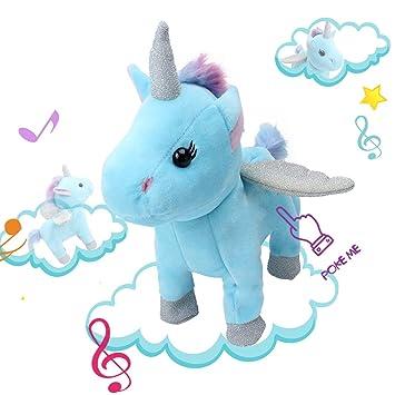 Amazon Com Alpacasso Electronic Unicorn Toys Singing And Walking
