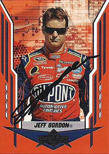 AUTOGRAPHED Jeff Gordon 2008 Press Pass Stealth Racing (#24 DuPont Team) Hendrick Motorsports Signed NASCAR Collectible Trading Card with COA