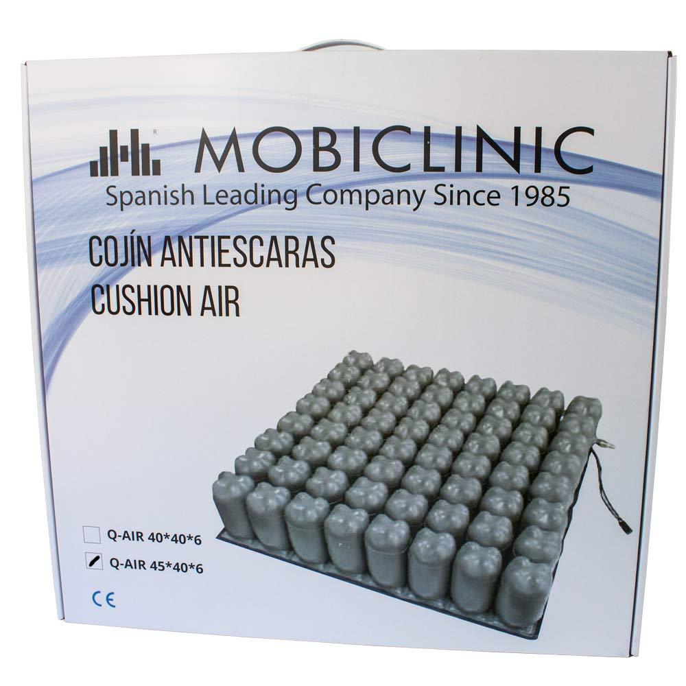 Mobiclinic Q-AIR, Cojín antiescaras para silla de ruedas, Prevención de llagas en la piel, Se adapta al cuerpo, Facilita la circulación sanguínea, 1 ...
