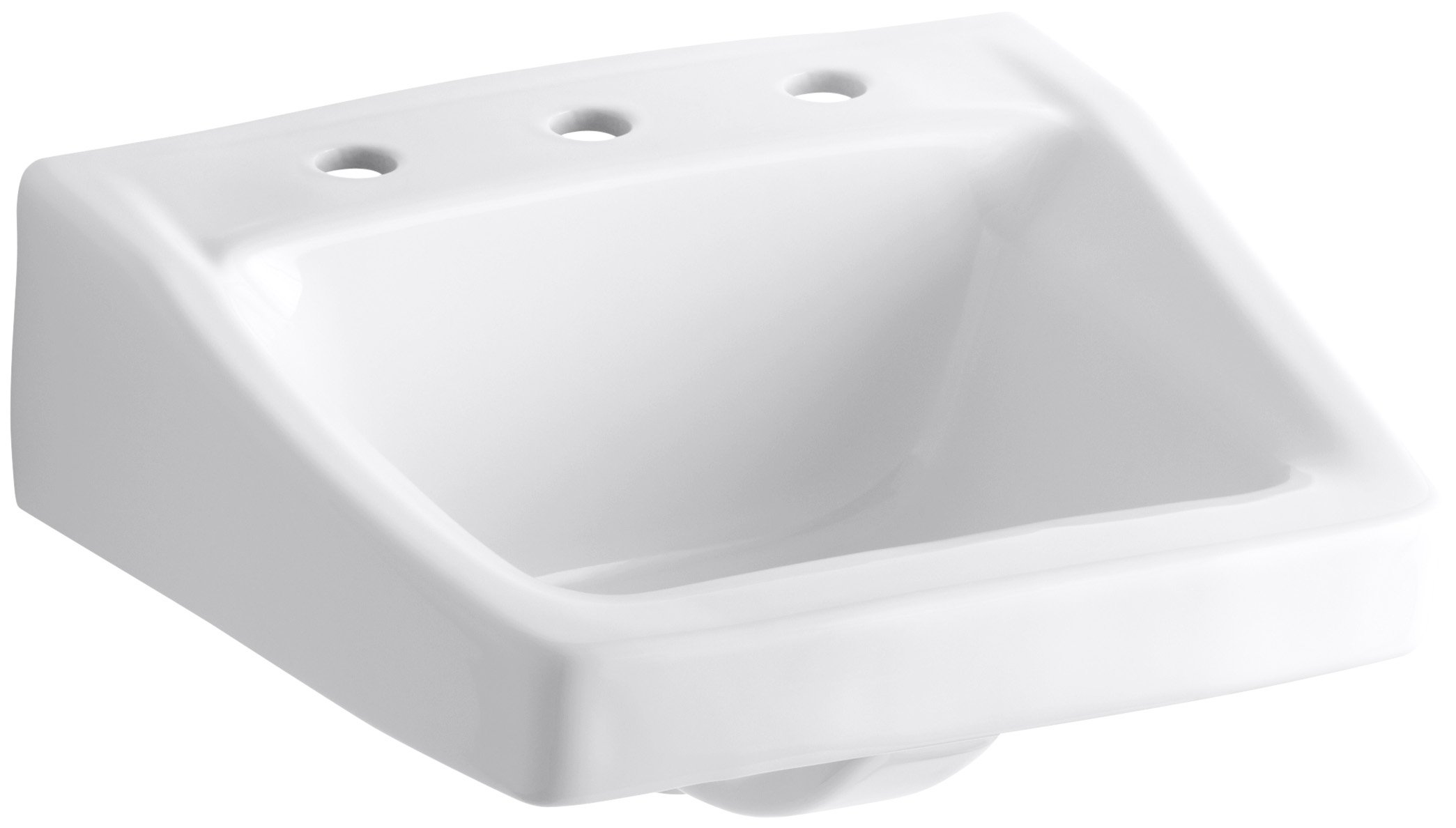 KOHLER K-1724-0 Chesapeake Wall-Mount Bathroom Sink, White by Kohler