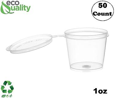 Amazoncom Ecoquality 50 Pack 1 Oz Leak Proof Plastic Condiment