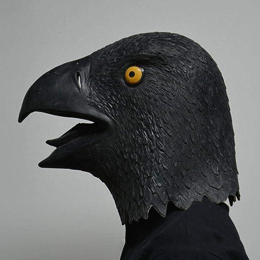 ypyrhh Máscaras de Animales,Máscara de Loro Negro - Máscara de ...