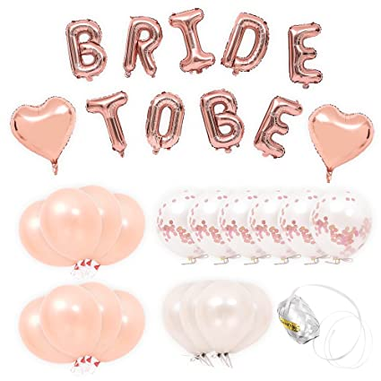yi pf g star bride to be rose gold balloons bridal shower balloons rose gold