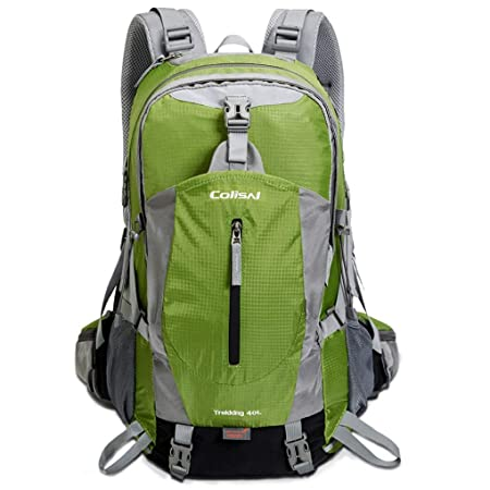 Colisal 40L Hiking Backpack with Rain Cover Trekking Rucksack for Men Women, Outdoor Daypack with Hydration Systerm Support for Camping Climbing Walking Sport