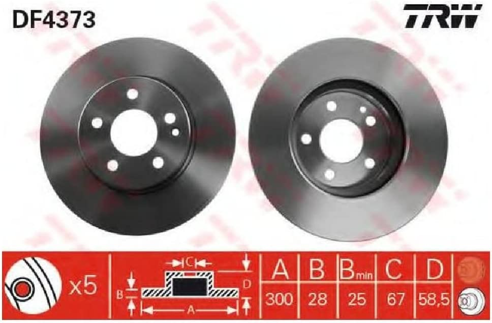Febi-Bilstein 24076 Disco de freno