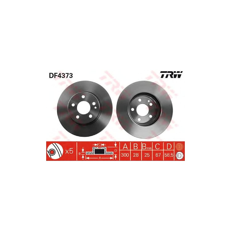 TRW DF4373 Brake Disc