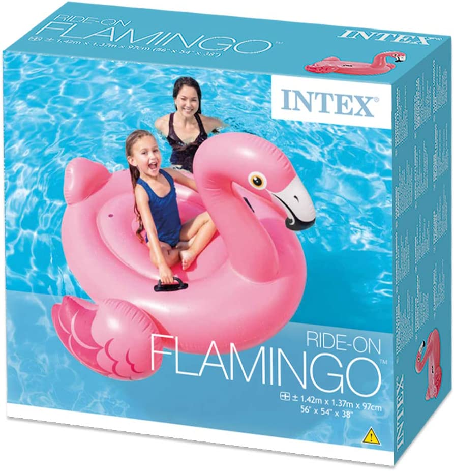 Intex 57558NP - Flamenco hinchable 142x137x97 cm: Amazon.es ...