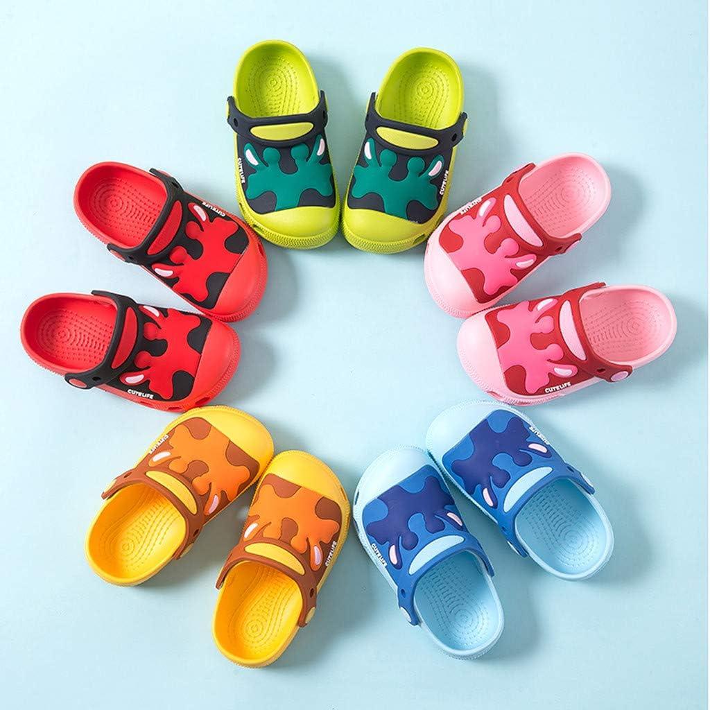 2020 New Baby Boys Girls Summer Flip Flop Sandals Cute Cartoon Cow Back Strap Non-Slip Beach Water Shoes