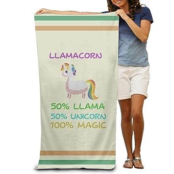 Meius Llamacorn Lindo Llama Unicornio Adultos Algodón Toalla de Playa 78,74 x 142,88 cm: Amazon.es: Hogar