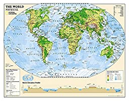 Kids Physical World Education: Grades 4-12 [Laminated] (National Geographic Reference Map)