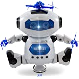 Kidsthrill Dancing Robot -Musical And Colorful Flashing Lights Kids Fun Toy Figure - Spins And Side Steps
