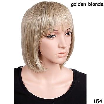 Amazon.com : Short Blonde Red Bob Hair Wig