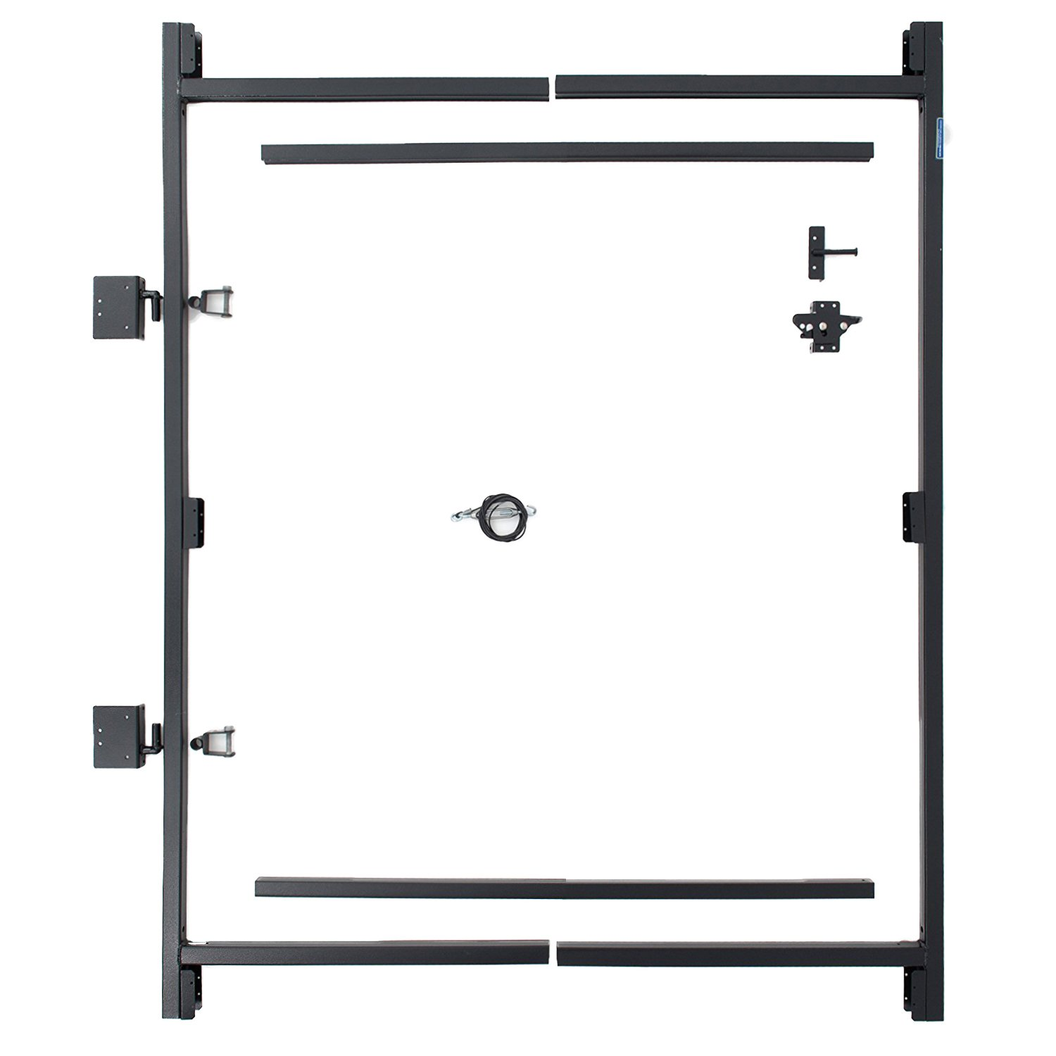 Fence Walk Through Gate Kit - Adjust-A-Gate Steel Frame No Sag Gate Building Kit - This anti-sag gate kit is perfect for repairing existing sagging gates or building new ones. (36''-60'' wide openings up to 7' high fence)