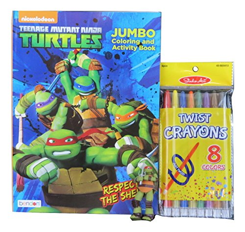 [TMNT Jumbo Coloring and Activity Book, 3D Puzzle Eraser, and Studio Art Twist Crayons] (Teenage Mutant Ninja Turtles Dogpound Costume)
