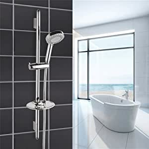 JERUI ducha de baño barra deslizante accesorios de acero ...