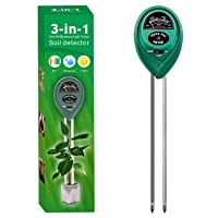 Alkey Soil Moisture Meter - 3 in 1 Soil Tester Kits with Soil Moisture/Light/pH Tester, Gardening Tool Kit for Plants, Suitable for Indoor & Outdoor, Gardens, Lawn, Farms Use