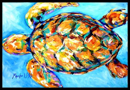 Caroline's Treasures Sand Dance Turtle Indoor or Outdoor Mat, 18'' x 27'', Multicolor