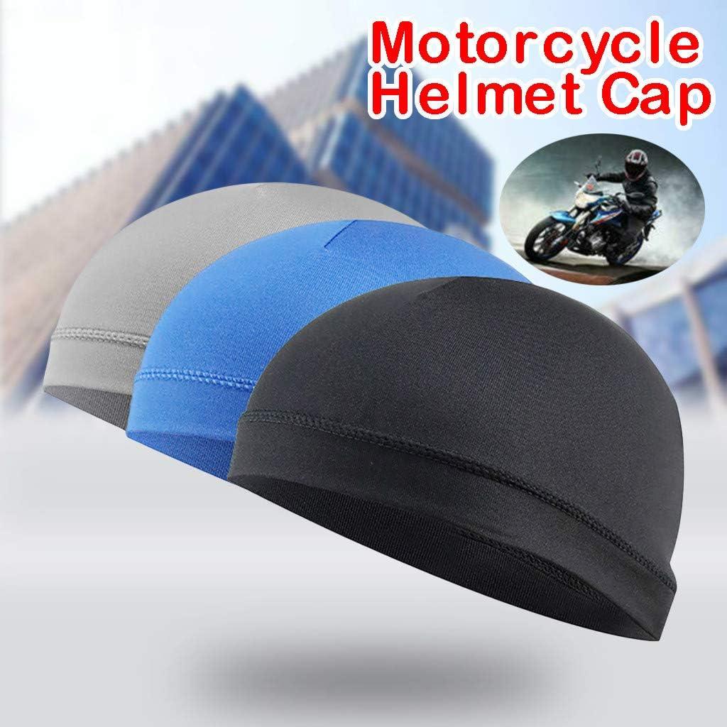 Mens Cycling Skull Cap Motorcycle Windstopper Soft Under Helmet Hat Breathable