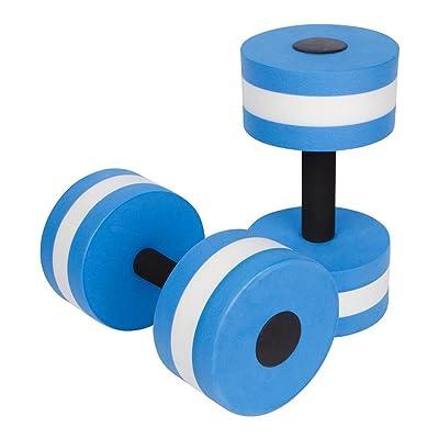 WINOMO Haltère en Mousse pour Piscine Aquatique Exercice de Remise en Forme 1 Paire (Bleu)