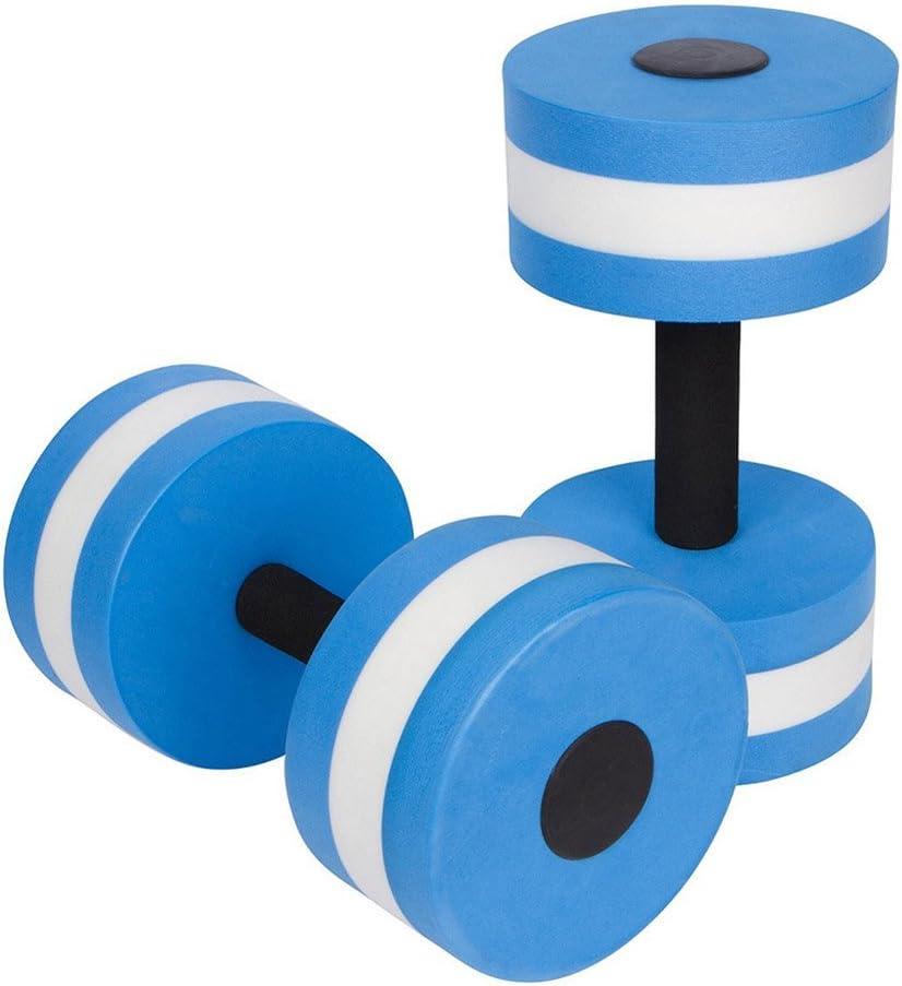 WINOMO ejercicio acuático mancuernas 2pcs EVA agua mancuernas mano Bar para agua resistencia aeróbic pérdida de peso (azul)