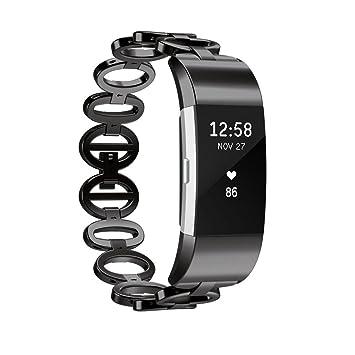 Javpoo for Fitbit Charge 2 Bandas de Repuesto, Correa de Reloj de Pulsera de Acero