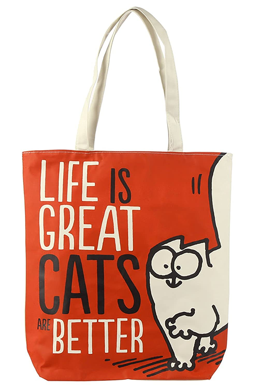 "Simon's Cat Einkaufstasche ""LIFE IS GREAT"""