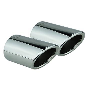 L & P A294 2 Blenden Apertura de escape de escape acero inoxidable espejo pulido Plug