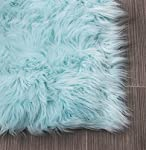 Serene Super Soft Faux Sheepskin Shag Silky Rug Baby Nursery Childrens Room Rug
