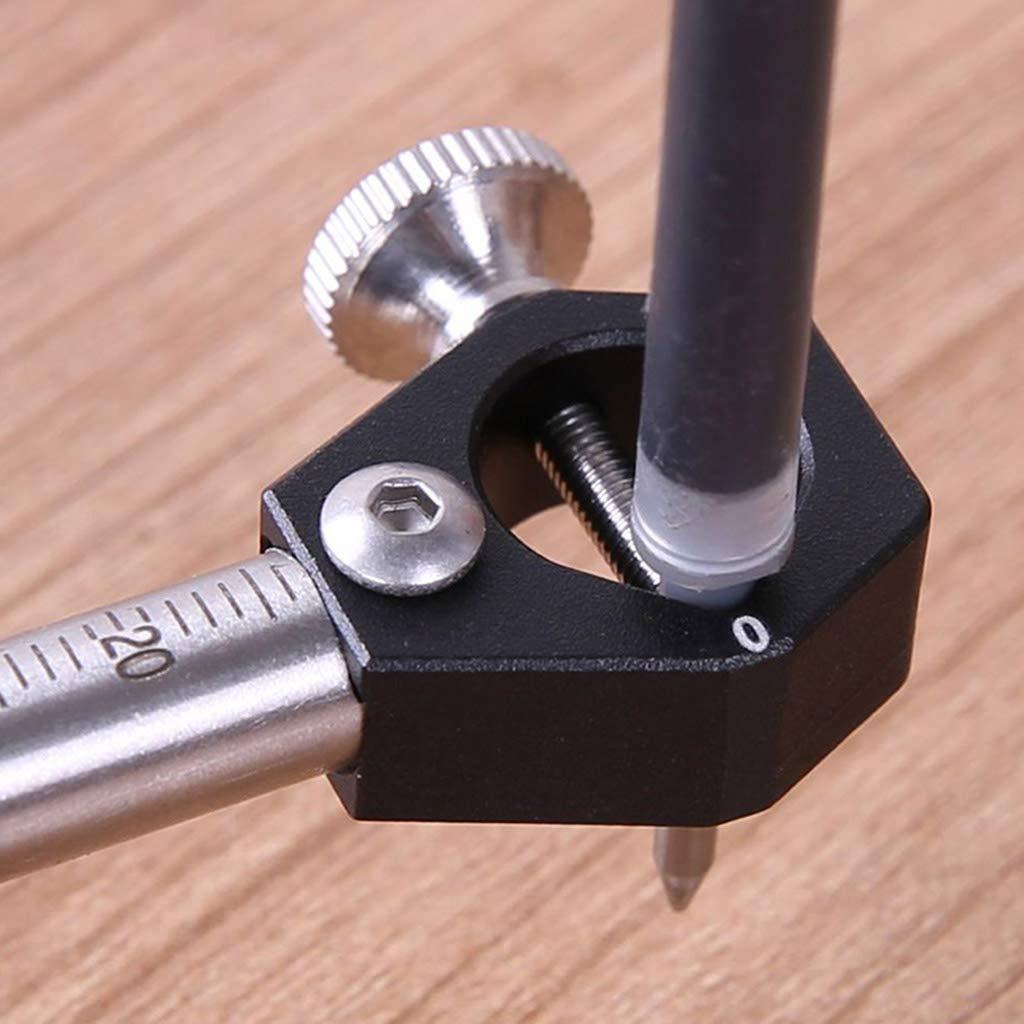 Lamdoo Holzbearbeitung Scriber Straight Line Arc Curve Parallele Rad-Markierungs-Ausschnitt-Messger/ät